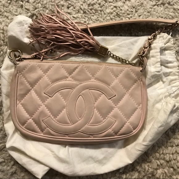 5b7b3a87cd5f CHANEL Bags | Light Pink Suede Quilted Shoulder Bag | Poshmark